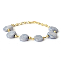 Handmade Bracelet having Dark & Light Blue Color Beads