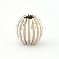 Silver Plated Round Copper Beads