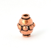 Oxidized Copper Cylindrical Beads in 10x7mm