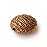 Oxidized Copper Tablet Beads in 12x4mm