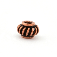 Rondelle Shaped Oxidized Copper Beads in 8x5mm