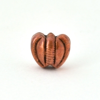 Heart Shaped Oxidized Copper Beads in 10x7mm