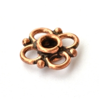 Flower Designed Oxidized Copper Beads in 12x4mm