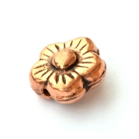 Flower Shaped Oxidized Copper Beads in 11x6mm