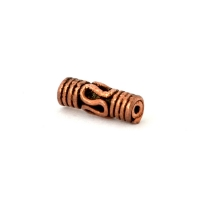 Tube Shaped Oxidized Copper Beads in 11x4mm