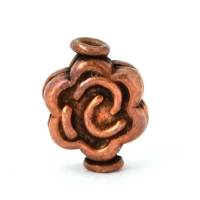 Flower Designed Oxidized Copper Beads in 12x9mm