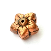Flower Shaped Oxidized Copper Beads in 10x7mm