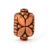 Cylindrical Oxidized Copper Beads in 15x10mm