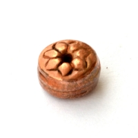 Flat-Round Oxidized Copper Beads in 8x5mm