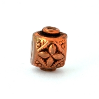 Square Flower Designed Oxidized Copper Beads in 8x7mm