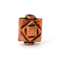 Oxidized Copper Square Beads in 10x8x8mm