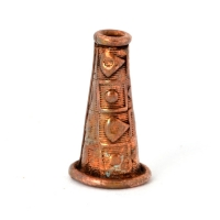 Cone Shaped Oxidized Copper Beads in 15x8mm