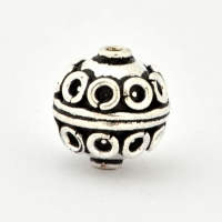 100gm Round Silver Plated Copper Beads in 14mm Diameter