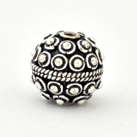 100gm Round Silver Plated Copper Beads in 12mm