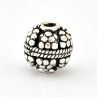 100gm Round Silver Plated Copper Beads in 11mm