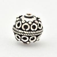 100gm Round Silver Plated Copper Beads in 13mm