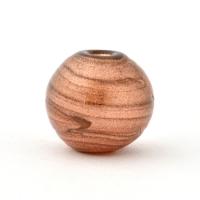 Shining Brown Round Glass Beads