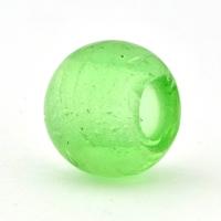 Transparent Green Glass Beads