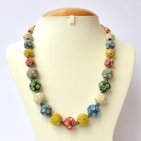 Handmade Necklace with Multicolor Beads