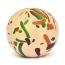 20mm Cream Color Lac Beads having Multi-color Spots