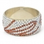 Handmade Bangle Studded with White & Brown Rhinestones (Back View)