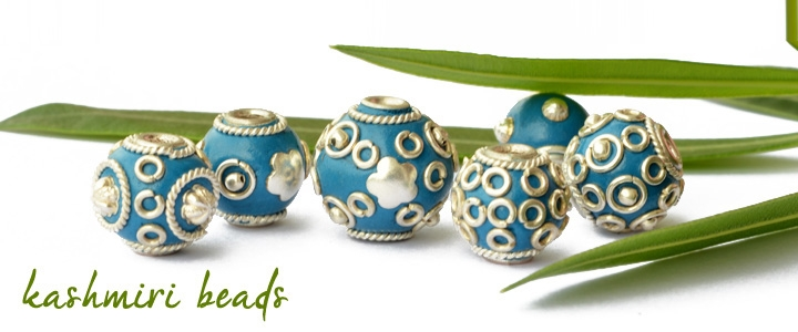 Blue Kashmiri Beads