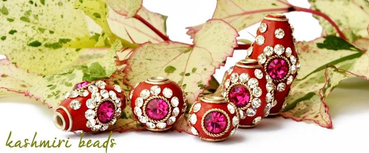 Red Kashmiri Beads